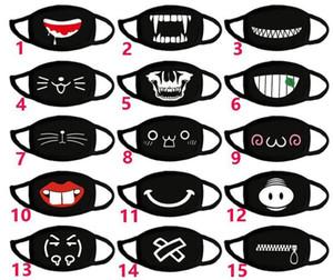 Симпатичные зубы улыбка медведь маска Зимняя маска Творческий Хлопок Прохладный Путешествия Face Cover Мужчины Женщины Kpop маски Декоративные Черный Принадлежит