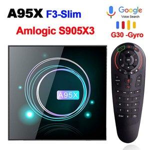 صندوق التلفزيون الذكية الروبوت 9.0 A95XF3 AMLogic نوع S905X3 4GB 32GB 64GB 8K HD 2.4 / 5.0G واي فاي جوجل ميديا بلاير A95X F3 سليم