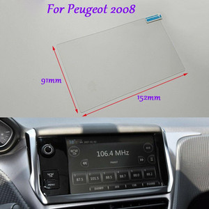 Internal Accessories 7 inch Car GPS Navigation Screen HD Glass Protective Film For Peugeot 2008
