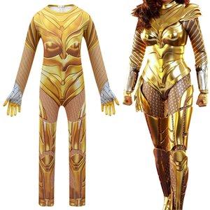2020 Wonder Woman 1984cosplay Diana Altın Warframe Tek Parça bodysuit Big Boy Cadılar Bayramı Kostüm 4519 Bebek Çocuk Giyim
