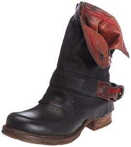 XingDengLadies Riding Zip Square Heels High Heels Motocycle Boots Shoes Buckle Women Ankle Pu Leather Punk Cowboy Western Boots 04