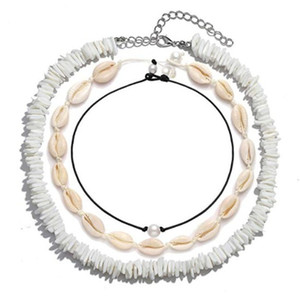 Hawaiian Puka Chip Shells beach necklace for women girls ladies 3 piece in one set dhl free shipping DHA388