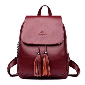 Кожаные Рюкзаки женские школы рюкзак плеча женщин сумки Aber Мода Женщины Рюкзаки для женщин для девочек-подростков перенестись