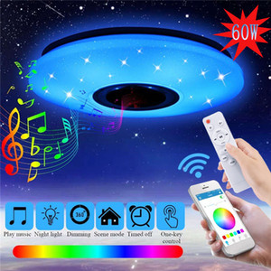 Ceiling Lamp with Bluetooth Speaker,Dimmable, Multicolor,APP Control & Remote Controller,60W Smart Ceiling Light Music Color Changing Light