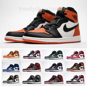 2020 new OFF 1s Red Black 1 White Chicago UNC Mens Basketball Shoes For Men Sports Womens Designer Sneakers Chaussures Trainers B2 TTP09