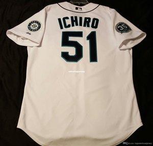 Cheap SEATTLE 51# ICHIRO SUZUKI COOL BASE On Field Jersey Mens Stitched Wholesale Big And Tall SIZE XS-6XL baseball jerseys
