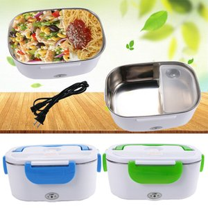 Portable Electric Heating Lunch Box Heater Stainless Steel Food Container 1.5L