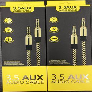 3.5 AUX-Audio-Kabel 3,5-mm geflochten Stecker auf Stecker Audio-Kabel 1,5 m 3 m für Auto-Musik