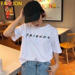 friends tv show Clothing 2020 t shirt kawaii korean tshirt 90s women female top tee shirts femme Graphic t-shirt Girl summer