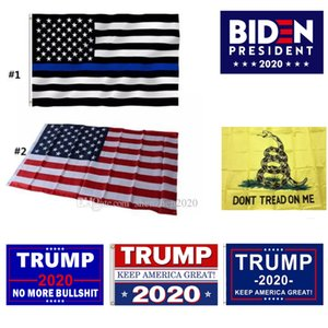 Präsidentenkampagne Banner 90 * 150cm US-Flaggen Blue Line USA Polizei Flaggen 3x5 Fuß Amerikaner Donald Trump Flag Biden Flag