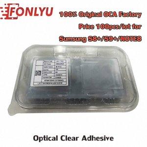 100шт 100% Оригинал ПЦА 100um Optical Clear Adhesive наклейка для Samsung S8 + S9 + Note8 Клей Сенсорное стекло объектива Фильм eWxC #