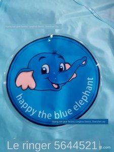سميكة O2oUW الإعلان EVA ماء كبير الفيل الأزرق حافة مع الأطفال معطف واق من المطر الإعلان سميكة EVA بري واسع للماء