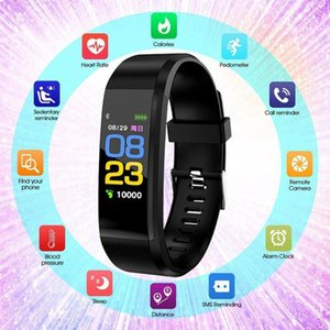 ID 115 Plus-Smart-Armband Smart-Sport-Armband Fitness Activity Tracker Pedometer Herzfrequenz-Blutdruck-Monitor für Android iOS DHL
