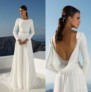 2020 Vintage Romantic French Lace Off Shoulder Button Back Wedding Dresses Long Sleeves Court Train Bridal Party Gowns