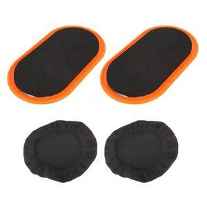 Séance d'entraînement de disque coulissant 2pcs Fitness curseur Gliding Pad glisser Mat Sport Muscle abdominal Yoga Mat Gliding Fitness Equipment