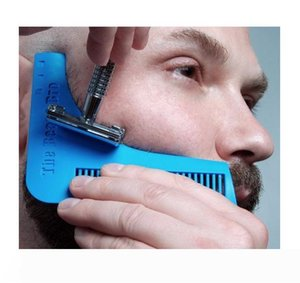 DHL 10 Colors Beard Bro Beard Shaping Tool for Perfect Lines Hair Trimmer for Men Trim Template Hair Cut Gentleman Modelling Comb