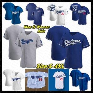 2020 Baseball Jersey LA Mookie Betts David Price Cody Bellinger Alex Verdugo Clayton Kershaw Justin Turner Pederson Seager Hernandez Martin
