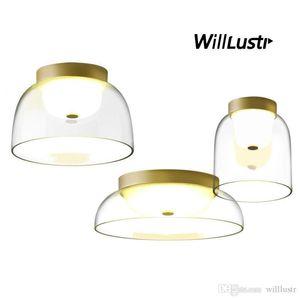 Creative LED Ceiling Lamp Mouth Blown Glass Lighting Dinning Room Living Room Hotel Bar Affordable Luxury Modern Design Light