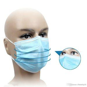 3-capas máscara de la máscara DHL PM2.5 nave! Profesión tejidos desechables elástico boca suave y transpirable cara