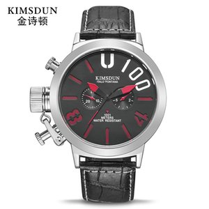 Kimsdun Marca Hot grandi di manopola Mens Belt Sport Watch Two-Eye Multi-Function vigilanza meccanica automatica