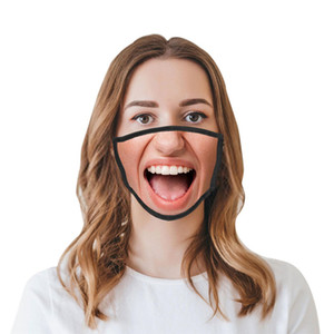 Komik Moda Yüz Haze geçirmez Nefes Koruyucu Maskeler DHL Ücretsiz Kargo LJJA5960 toz geçirmez 3D İfadeler Kişilik Maskeler Maske
