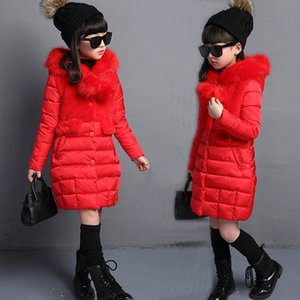 Girls Jackets & Coats New Arrivals Fashion Fur Hooded Warm Parka Down Kids Clothes Cotton Children's Outwear Clothing
