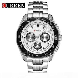 U Curren Brand Fashion Military Quartz Watch Men Casual Waterproof Relogio Masculino Army Wristwatch Silver Relojes Hombre