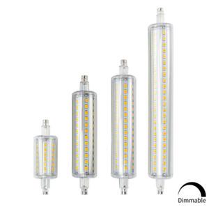 50шт / много R7S светодиодные лампы J78 J118 Диммируемый Кукуруза лампа 78мм 118мм 135мм 189mm Заменить Halogen Light 25W 150W 500W 220V 110V Лампада