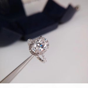 G 925 Sterling Silver Have Stamps Love Diamond Rings Bague For Women Party Wedding Engagement Set Jewelry Lovers Gift With Box