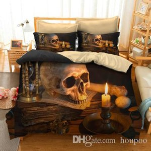 3 Styles Skull 3D Printed Twin~King Size Bedding Sets Bed Sheets Queen Bedding Sets King Size Comforter Set