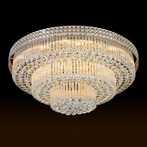 Светодиодные потолочные люстры заводские цены роскошный благородный великолепный высокий конец K9 хрустальная люстра отеля лобби лестница лестницы виллы светодиодные люстры света