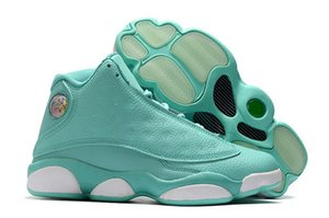 Cheap 2020 New Arrival Jumpman 13 GS Mint Green GS Playground 13s Women Basketball Sports Shoes Sneakers High Size 5.5~8.5