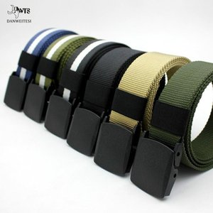 Top Quality Belt Men Canvas Belts Youth Students Automatic Smooth Buckle Female Hypoallergenic Outdoor Nylon Pants Belt Ladies Belt