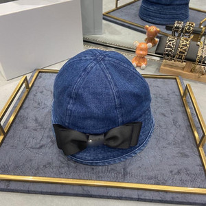 Denim bow fisherman hat designer scarf bucket hat hats baseball cap cap women designer scarves silk designer head scarf 2020 new