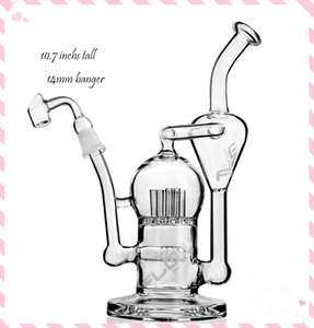 Feb Egg Bong Klein Recycler Oil Rigs Smoking Accessories Thick Glass Water Bongs Unique Bong Hookahs Shisha With 14mm Banger