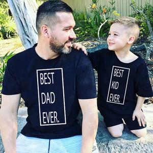 Abiti di abbinamento della famiglia Guardano Padre e Ded Ever Son Abbigliamento Cotone Estate Baby Girl Top Daddy Me