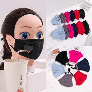 Máscara de palha crianças Adultos Anti Poeira Cotton lavável respirável canudinhos Outdoor Gancho Rosto Máscaras OOA8279