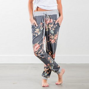 2020 New Casual Womens Casual Floral Print Jogger Harem Baggy Slacks Trousers Sweatpants Stylish Female Loose Pants