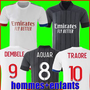 Olympique Lyonnais Lyon Soccer Jersey 20 21 Maillot de Foot 2020 2021 Mailoots de Футбольная футболка Traore Memphis OL Мужчины + детский комплект Униформа