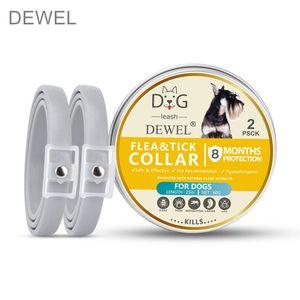 Dewel 2 PCS Cat Dog Anti Flea Mosquitoes Ticks Dogs Pets Accessories Waterproof Herbal Pet Collar 8 Months Protection CX200723