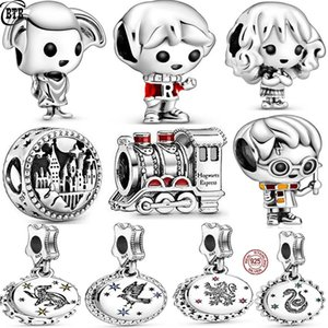 New 925 Silver Harry Family Charms Dobby the House Elf Beads Fit Women Bracelet Ron Weasley Charms Pendant DIY Jewelry