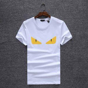 2019 homens Rampo / rampo Manga Curta T-shirt faixa branca top camisa de fundo redondo pescoço meia manga comprida T-shirt roupas da moda PO022