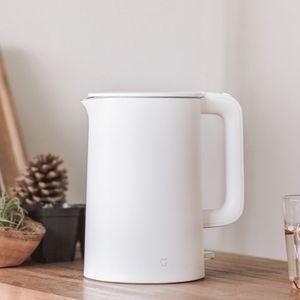 Mijia Elektrikli Kettle Çaydanlık 1.5L Otomatik Kapatma Koruma Mutfak Su Kazanı Çaydanlık Anında Isıtma Paslanmaz Çelik