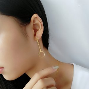 2019 mode Bijoux en or 18 carats plaqué goutte d'argent sterling de forme ronde boucle d'oreille pour les filles ou dame 10 paires de référence