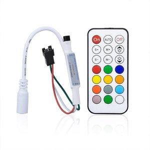 Mini RGB Controller 21 Key Pixel Controller for Led Strip WS2811 Pixel Module Light DC5V-24V Control Cabinet
