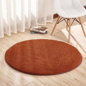Solid round plush carpets for living room short hair area rug children bedroom non-slip soft shaggy rugs home decor floor mats