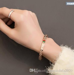 New Designers Color Gold Bracelet Couple Bracelet Men and Women Bracelet Scripture Titanium Steel Jewelry Gift Love High Quality