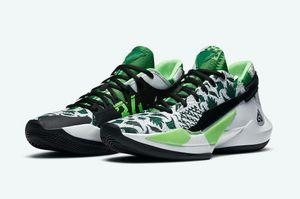 Hot Zoom Freak 2 chaussures Naija vente ETUI meilleures Yánnis Antetokoúnmpo 2 Noir Blanc Chaussures de basket-ball magasin de gros US7-US12
