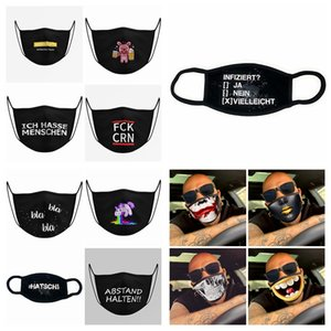 Cartoon Pattern Mask PM2.5 Anti Dust Face Mask Black Cotto Cute 3D Printed Outdoor Half Face Masks RRA3308