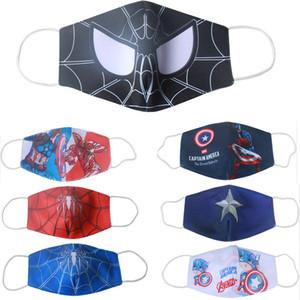 Designer Gesichtsmaske Kinder Maske Reiten Kälteschutz neue Spiderman Batman Superheld Kind Maske Kapitän Schild Punisher Deadpool ajust Cosplay
